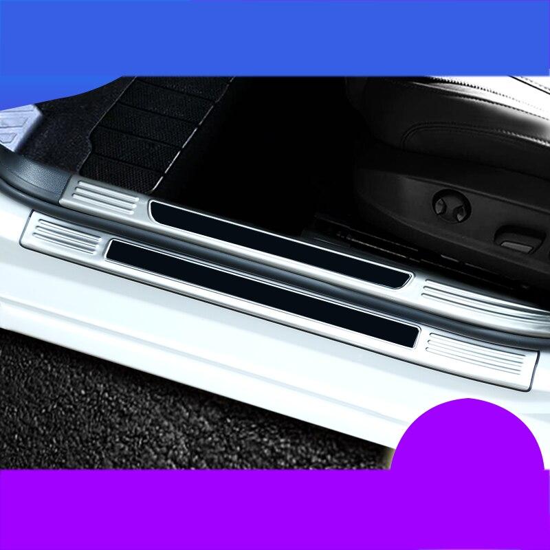For Skoda Octavia Accessories Car Door Sill Stainless Rear Bumper Protector Trim