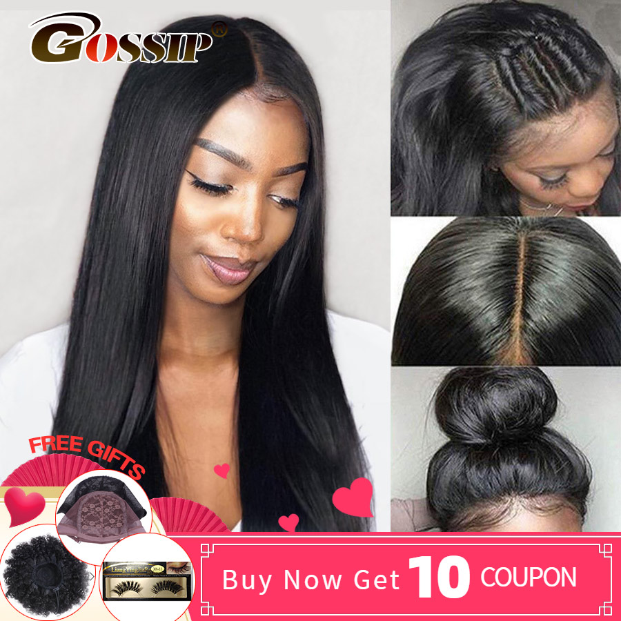250 Density 360 Lace Frontal Wig Brazilian Straight Lace Front Human Hair Wigs Remy 360 Lace Wig Human Hair 6Inch Lace Front Wig