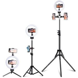"""Image 2 - 9 """"LED Ring Licht 3200 5600K 80 LEDs Selfie Ring Lampe Fotografische Beleuchtung Mit Stativ Telefon Halter USB Stecker Foto Studio"""