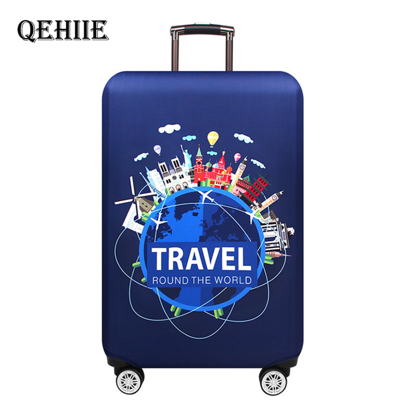 Travel Around The Word Luggage Cover Protector Thick Elastic Suitcase Protective Covers For 18