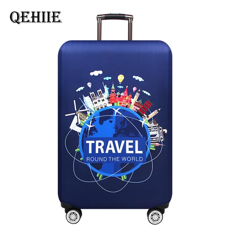 Viajar ao redor da palavra capa de bagagem protetor grosso elástico mala capas de proteção para 18