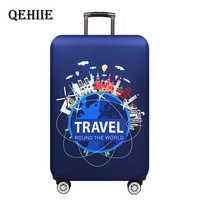 """Voyage autour du mot housse de bagage protecteur épais mallette élastique housses de protection pour 18 """"-32"""" bagages sac de voyage Ca"""