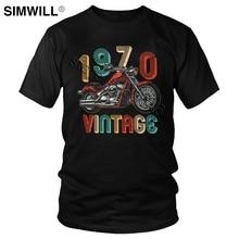 Vintage Custom motocicleta 1970 T Shirt Motocross Dirt bicicleta Tee moda 50 cumpleaños camiseta para Rider mangas cortas camisetas de algodón