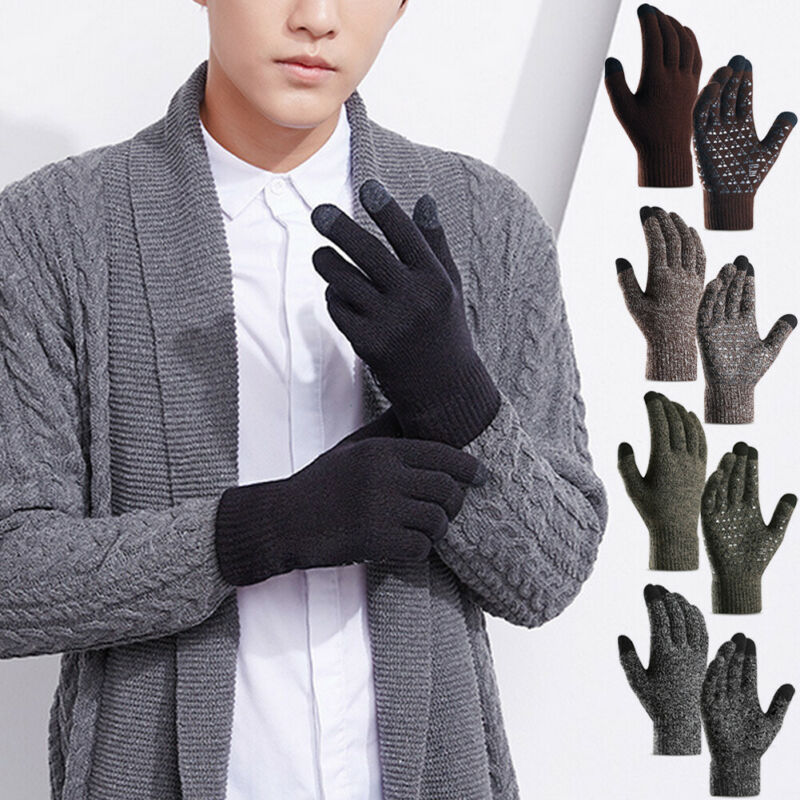 HIRIGIN Men Women Winter Touch Screen Gloves For Smart Phone Tablet Full Finger Mittens Warm Groves