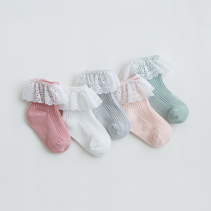 Infant Baby Socks Spring Summer Autumn Kids Socks Girls Princess Cotton Newborn Boy Toddler Socks Baby Clothes Accessories