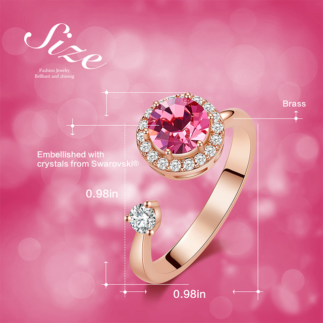 Crystal Fashion Rings - 12 Colors 3