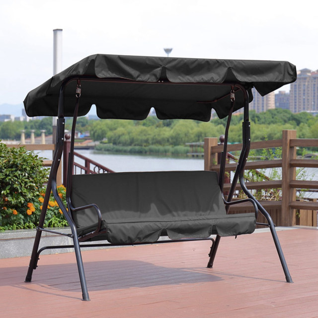Solid Outdoor Waterproof Summer Garden Courtyard Swing Awning Solid Swing Tent Gazebo Canopy Outdoor Tools And