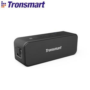Tronsmart T2 Plus Bluetooth 5.0 Speaker 20W Portable Speaker 24H Column IPX7 Soundbar with NFC, TWS,Voice Assistant,Micro SD(China)