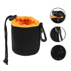 Image 3 - Waterproof Camera Lens Pouch Fleece Bag Soft Neoprene Drawstring Protector Case Portable Outdoor Travel Photo Camera Package