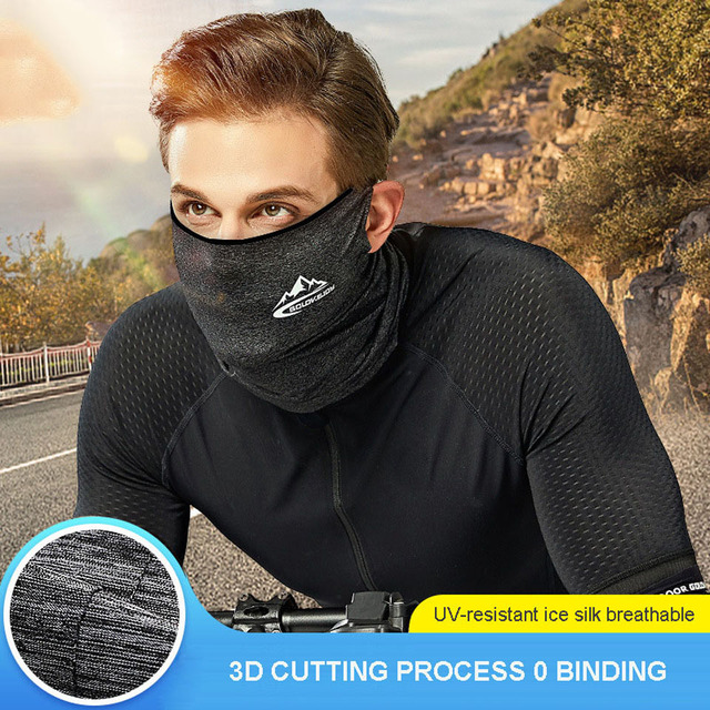 Spring Summer Cycling Half Face Mask Skin Cool Ice Silk Breathable UV Protection Sports Headwear Bike Headband Mask 1