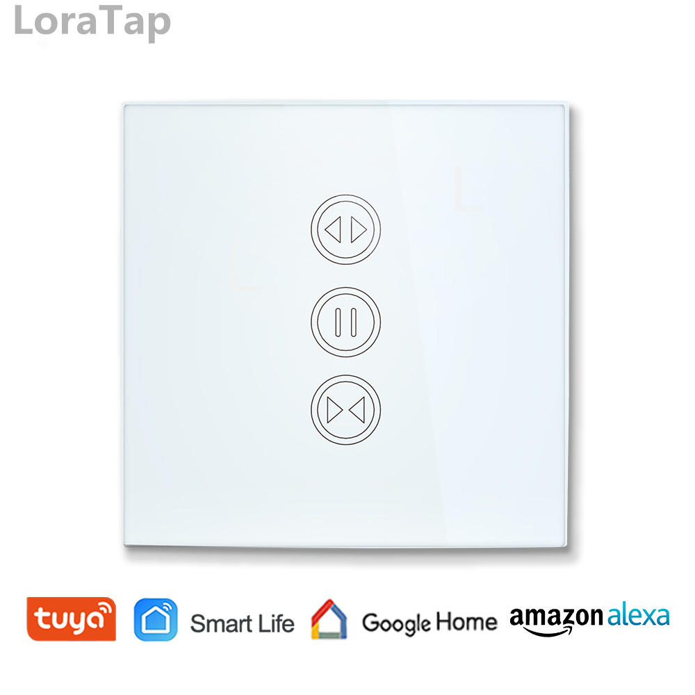 Tuya Smart Life WiFi Curtain Switch for Electric Motorized Curtain Blind Roller Shutter, Google Home, Amazon Alexa Voice Control flat panel display