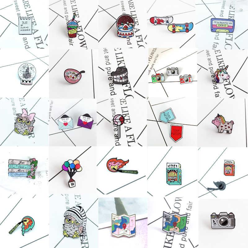 Kamera Skateboard Balon Udara Panas Natal Bola Mangkuk Sup Burung Hantu Minum Gigi Torch Sesuai dengan Petasan Kreatif Logam Koleksi