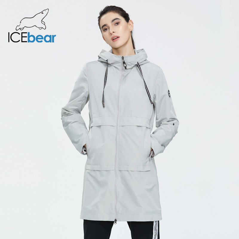 ICEbear 2020 Women Spring Windbreaker Quality Women Jacket Stylish Casual Women Clothes With Hood GWF20005I