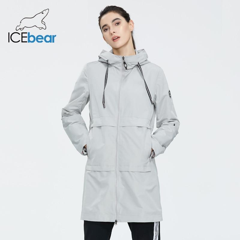 ICEbear 2020 Women Spring Windbreaker Quality Women Jacket Stylish Casual Women Clothes With Hood GWF20005I