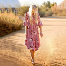 Party Mother And Daughter Dress Casual Beach Cocktail PPopo Props Mom Boho Women(China)