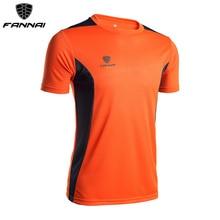 FANNAI, футбольные майки, мужские, подгонянные, облегающие, с коротким рукавом, спортивные футболки, футболки для тренировок, летние, для бега, футбольные футболки