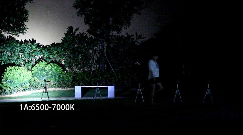 Lanterna led super poderosa 4x18a, com flash