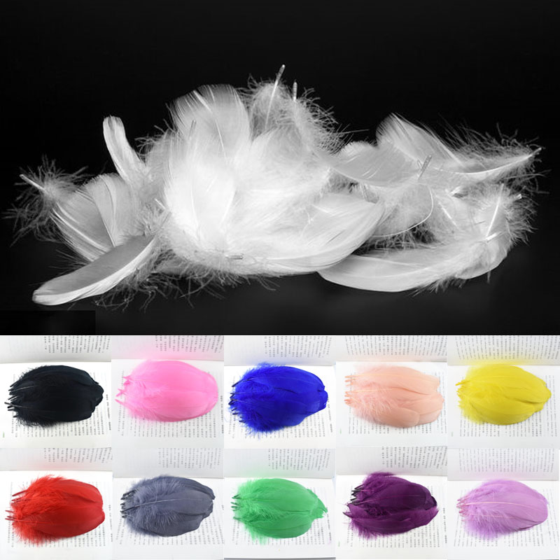 Top Quality wholesale Natural Goose Feathers for Crafts Jewelry Making 13-18cm DIY Christmas Party Feather Home Wedding Decor