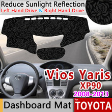 for Toyota Vios Yaris Belta Soluna 2008~2013 XP90 Anti-Slip Mat Rose Pattern Dashmat Dashboard Cover Pad Accessories Cape 2009(China)