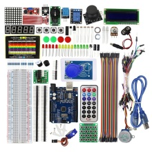 Upgrade Advanced Version Starter Kit for Arduino for UNO R3 - for UNO R3 Breadboard and Holder Step Motor / Servo / Jumper Wire/