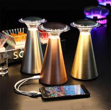 Czujnik dotykowy stolik barowy lampa akumulatorowa lampa Led lampka nocna lampka nocna do sypialni przenośna restauracja obiad stolik kawowy światło tanie tanio Thrisdar ROHS CN (pochodzenie) Łóżko pokój Black W górę iw dół TD-LouDou-Bai-USB Brak iron Ue wtyczka 12 v Dotykowy włącznik wyłącznik