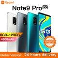 Radmi Note 9 Pro смартфонов 6 ГБ + 128 ГБ android Мобильные телефоны 6,1 дюймов, мобильные телефоны глобальная Версия Телефона Face ID Dual SIM 4800 мАч