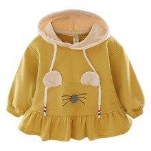 Г. Осенняя одежда для маленьких девочек; Повседневная Толстовка с капюшоном и длинными рукавами с героями мультфильмов