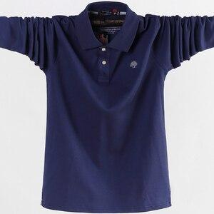 Image 2 - 4XL 5XL גדול גודל זכר פולו חולצות רחב מימדים 95% כותנה סתיו חורף גדול וגבוה Mens מותג בגדים אדום אפור ירוק שחור כחול