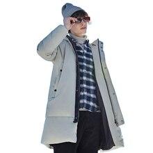 Semir uzun kalınlaşmak aşağı ceket 80% ördek 2019 genç kış rüzgarlık erkek yeni kapşonlu sıcak kış ceket normal konfor ceket