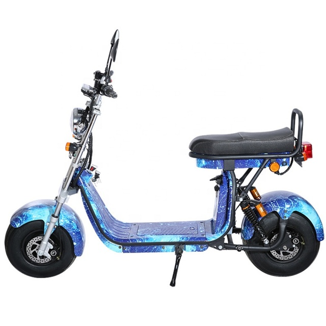 EEC Approved Street Legal Electric Motorcycle 18inch Citycoco 60v60ah 3 Batteries Electric Scooters Europe stock with Mirrors 3