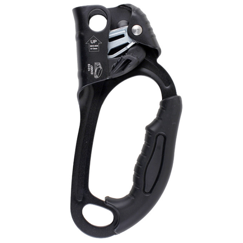 Rock Climbing Right Hand Ascender Ascension Riser 8 13Mm Rope Clamp for Mountaineering Caving Rope Ascents Gear Equipment|Climbing Accessories| |  - title=