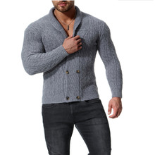 New styles Mens Shawl Collar Cardigan Sweater Button Front Solid Knitwear 4 colours Size:M-XXL