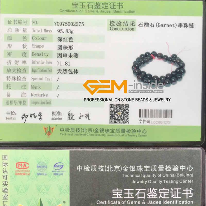2-14mm Natürliche Stein Runde Rot Granat Perlen Für Schmuck Machen strang 15 zoll Semi-wertvolle DIY perlen Halskette Armband Geschenk