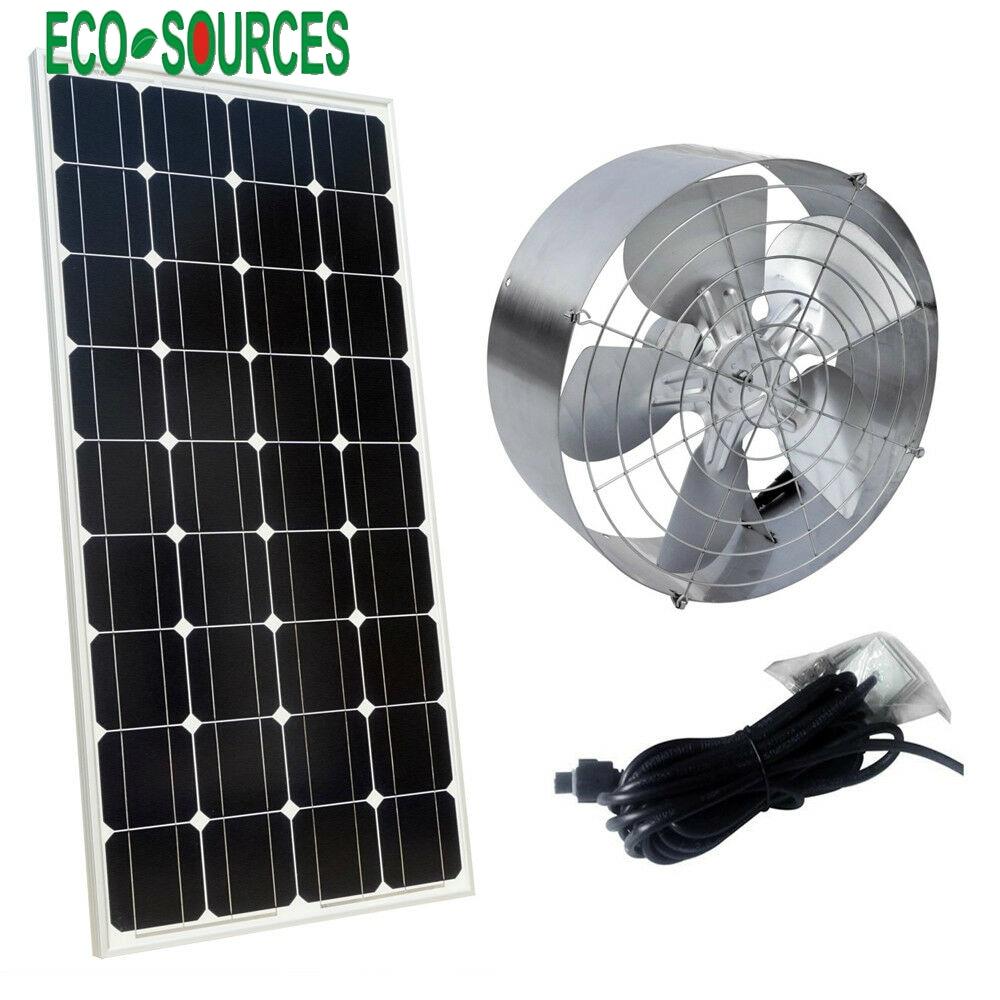 65W Exhaust Roof Vent Fan Solar Powered Environmentally Friendly Fan 3000 CFM with 100 Watts Monocrystalline
