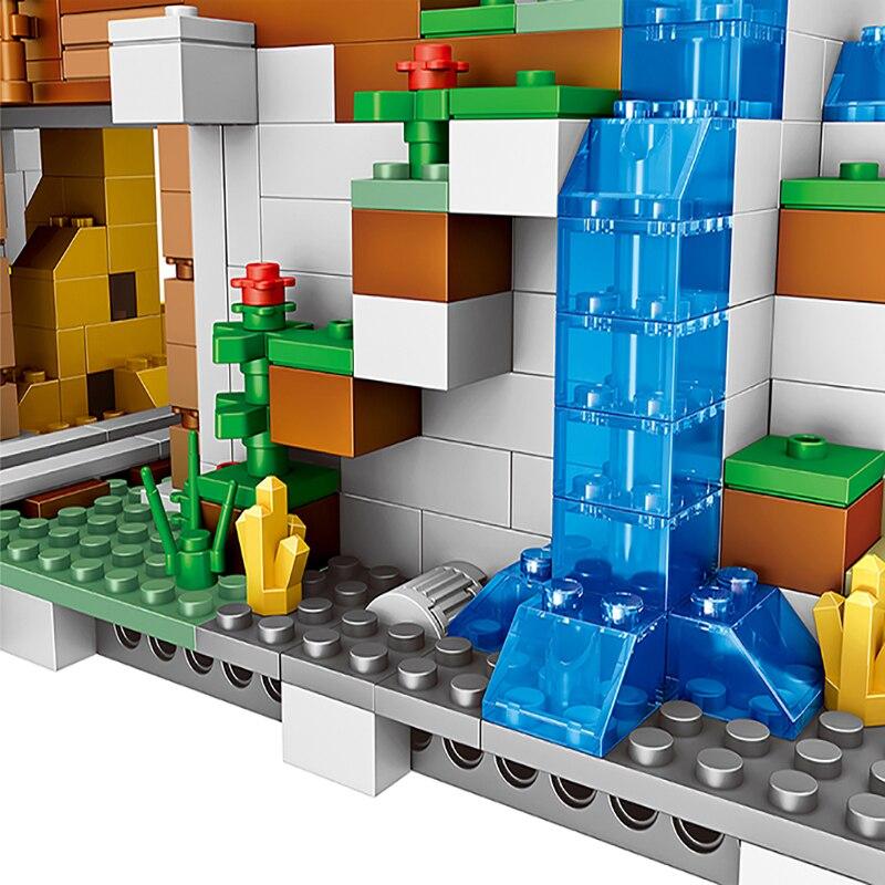 Моя всемирно известная архитектура, Железный голем, горные пещеры, строительные блоки, совместимые с legoingLYs 21137, рождественские детские игрушки для малышей - 4