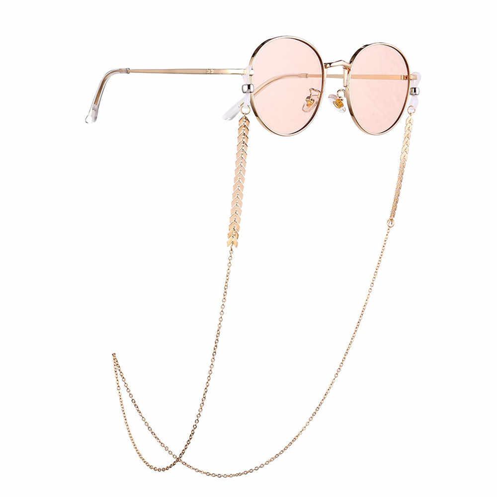 1 adet kadınlar moda inciler güneş gözlüğü zincirleri altın gözlük zincirleri güneş gözlüğü tutucu kolye gözlük tutucu aksesuarları