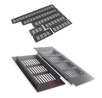 4Pcs/Lot 80MM Width Rectangle Black Aluminum Air Vent Ventilator Grille Cover Closet Shoe Cabinet Air Conditioner