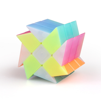 Windmill Magic Cubes QiYi Jelly 3x3 Cube Stickerless Puzzle Speed Cube Professional Cubo Magico Education Toys For Kid Toys Gift qiyi jelly color fun magic cube 3x3 stickerless speed cube puzzle finger toy antistress education toys for children cubo magico
