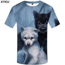 KYKU Brand Dog T shirt Men Animal Funny shirts Forest Tshirts Casual Lovely T-shirts 3d Harajuku Tshirt Printed Mens Clothing