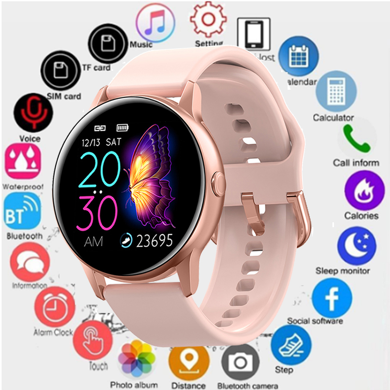 2019 Smart Watch Men IP68 Waterproof Heart Rate Blood Pressure Bluetooth DT88 Smartwatch Women Fitness Tracker Sports Wristband