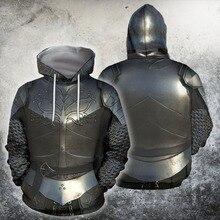 UJIW 3D All Over Printed Knights Armor Templar Tops Flag Streetwear Hoodie Long Sleeve Pullover Custom Hoodie Drop Shipping