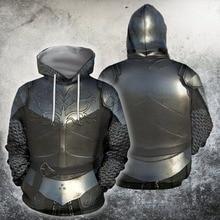 UJIW 3D partout imprimé chevaliers armure templier hauts drapeau Streetwear à capuche à manches longues pull capuche personnalisée livraison directe