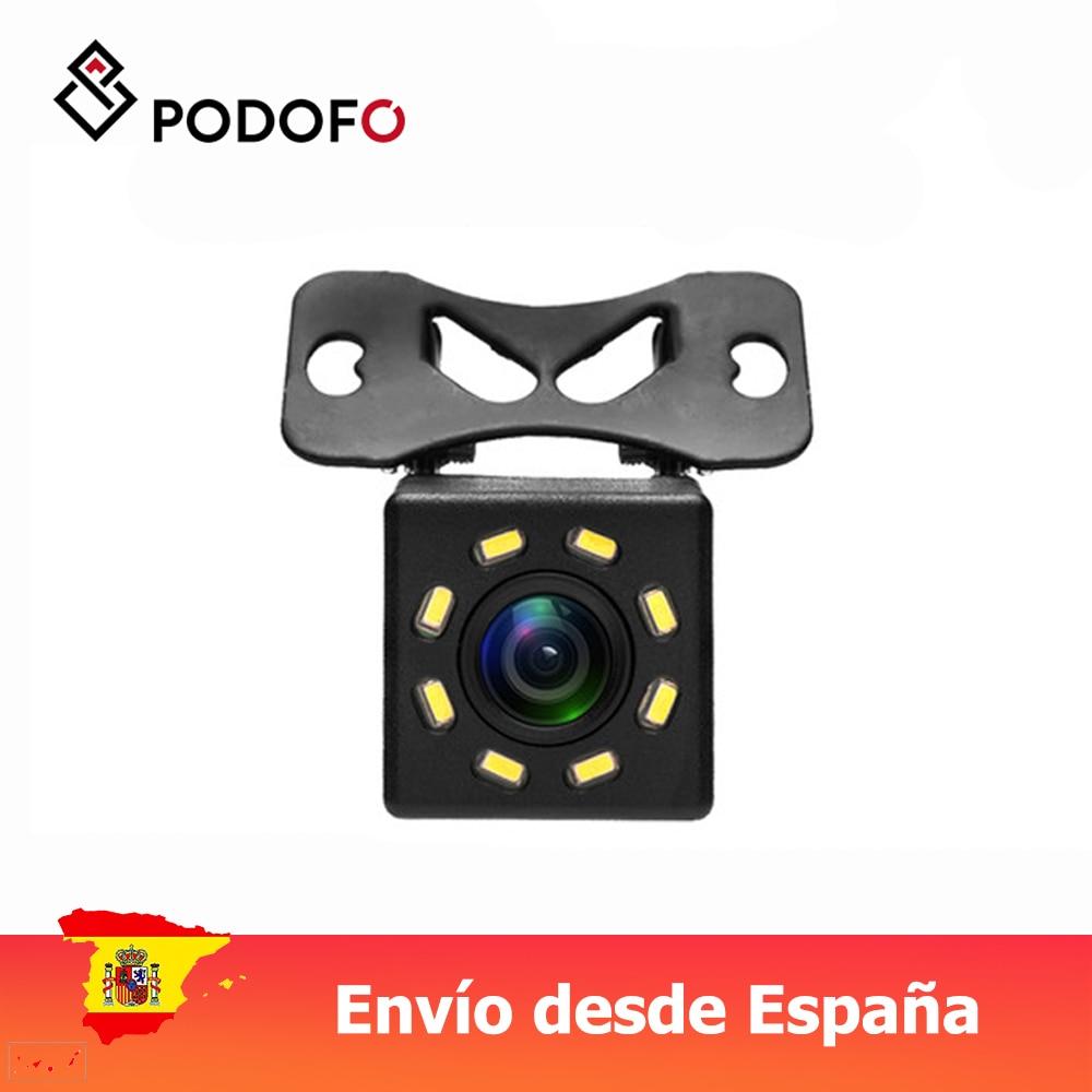 Podofo 8 LED gece vizyonları araba dikiz kamera geniş açı HD renkli görüntü su geçirmez evrensel yedekleme ters park kamerası