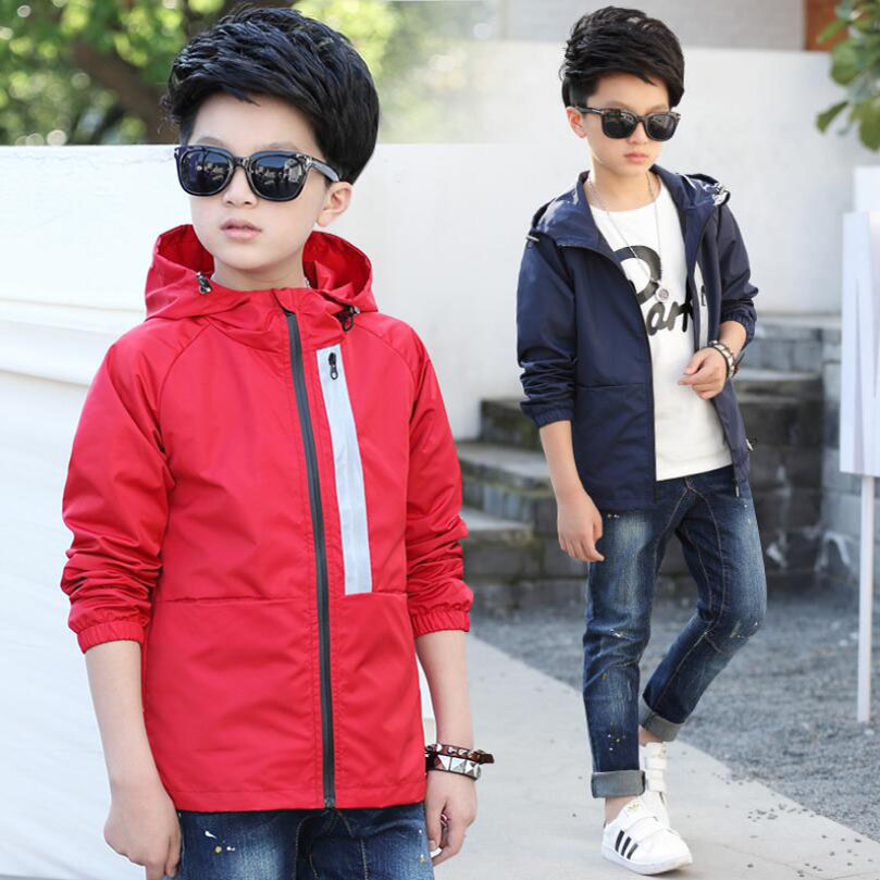 Весенняя куртка для мальчиков, Детская ветровка с капюшоном и длинным рукавом, подростковая одежда, спортивная куртка для больших мальчиков, верхняя одежда для мальчиков|Куртки и пальто| | АлиЭкспресс