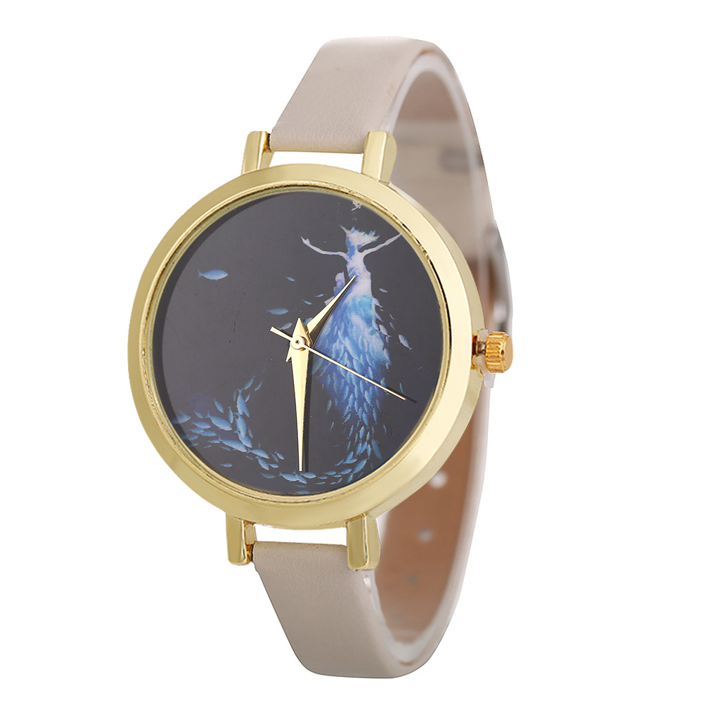 Image 5 - POFUNUO New Arrive Womens Fashion Luxury Watches Quartz Leather Band Wristwatch Unisex Popular Clock Gift-in Women's Watches from Watches
