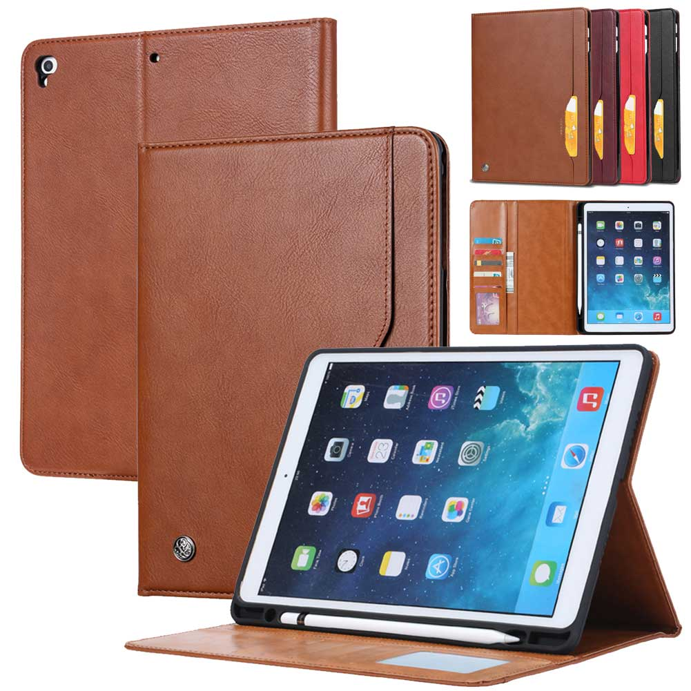 For iPad 10.2 inch 2019 Case with Pencil Holder Leather Folio Case Smart Cover Sleep Wake For iPad 7th Gen 10.2'' Tablet Cover|Tablets & e-Books Case| |  - title=