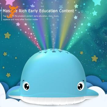 toys Baby Projection Story Machine Baby Soothing Accompany Little Whale Baby Glowing Toy Night Light Sleep Lamp Baby Safety little whale