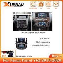 Оригинальный автомобильный стерео-проигрыватель с двумя экранами 360 камера для Nissan патруль Y62 Android радио 2010-2020 автомобильный стерео Мультим...