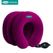 Cofoe-Traction pour cou gonflable, vertèbre cervicale, 3 couches, relaxation douce, collier Cervical, soutien Correct de cou