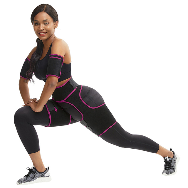 TOP!-Slim Thigh Trimmer Leg Shapers Slender Slimming Belt Neoprene Sweat Shapewear Toned Muscles Band Thigh Slimmer Wrap M 2